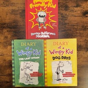 Bundle of three Wimpy kid books for $30